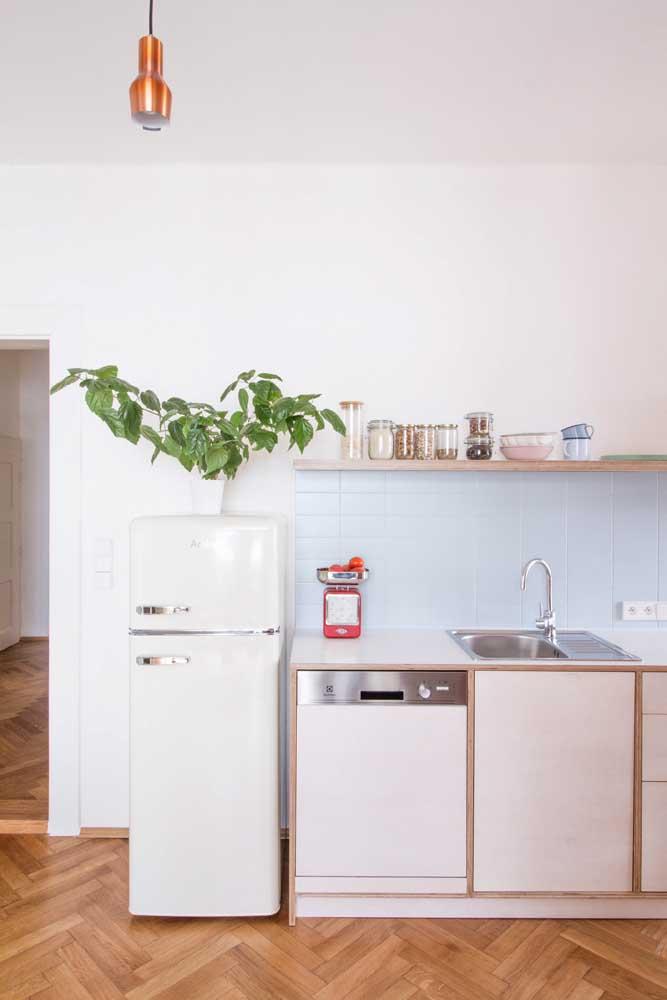 Revestimentos para cozinha simples.