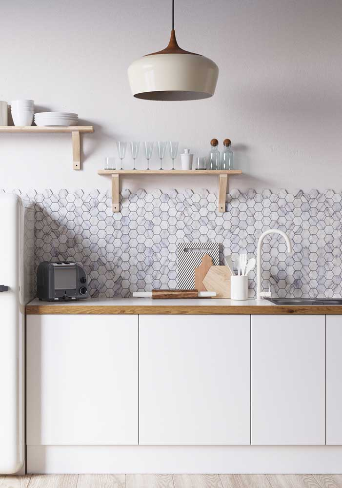 Revestimentos para cozinha escandinava.