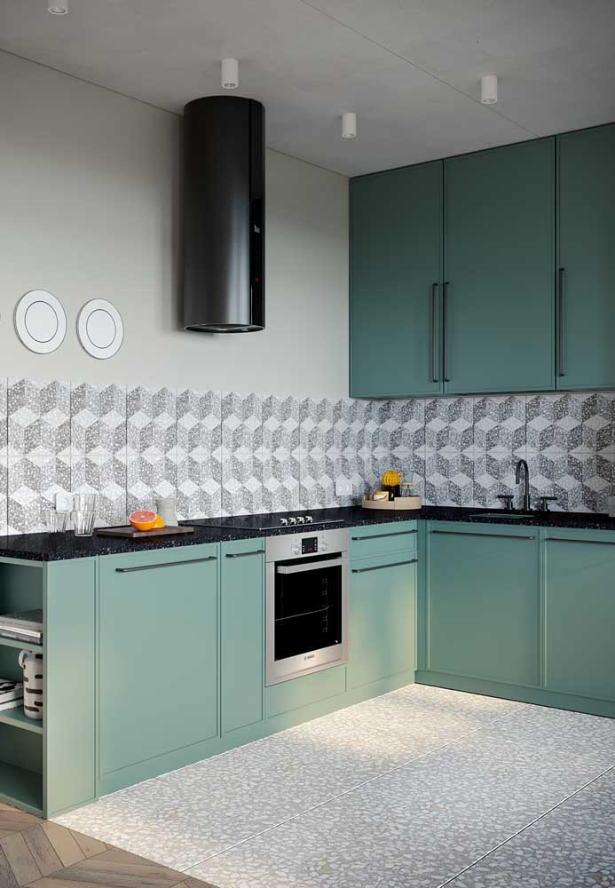 Revestimentos para cozinha verde.