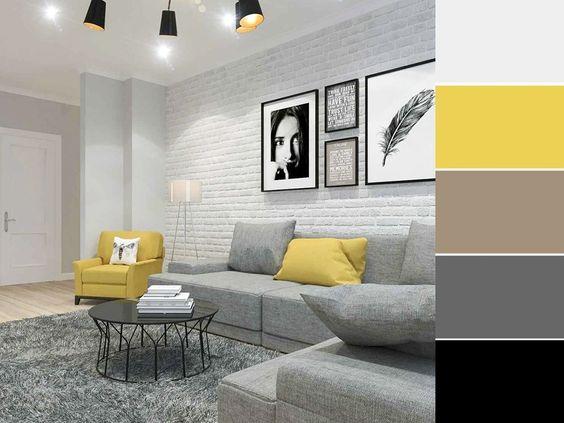 Cores de tintas para sala moderna e minimalista.