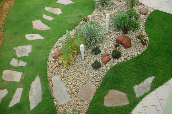 Jardim com pedras São tomé.