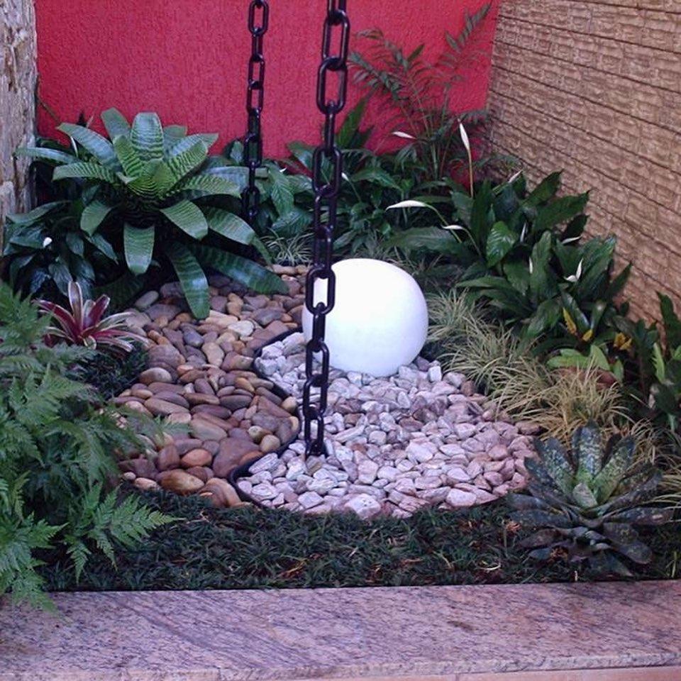 Jardim de inverno tropical.
