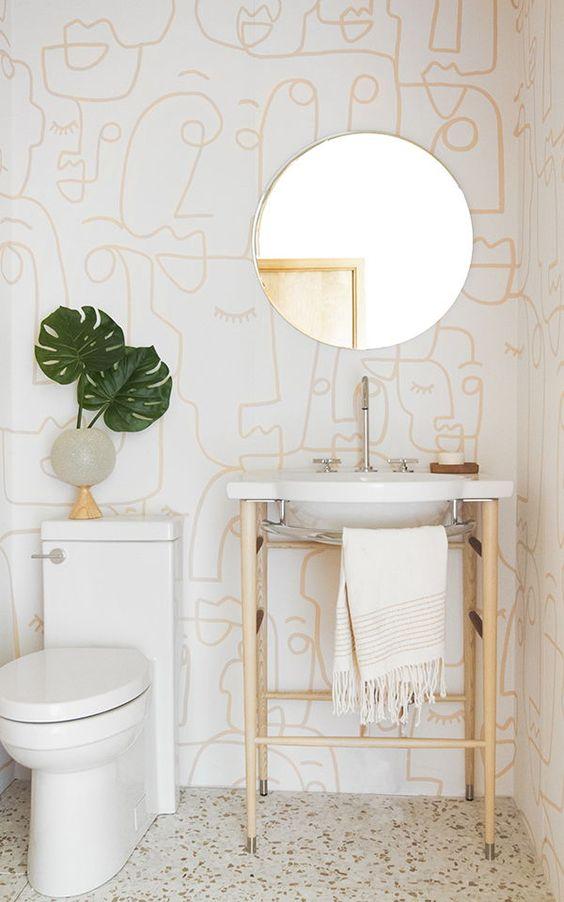 Decoração minimalista com desenhos modernos.