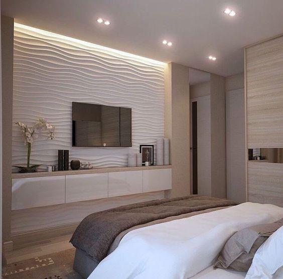 Papel de parede para quarto 3D.