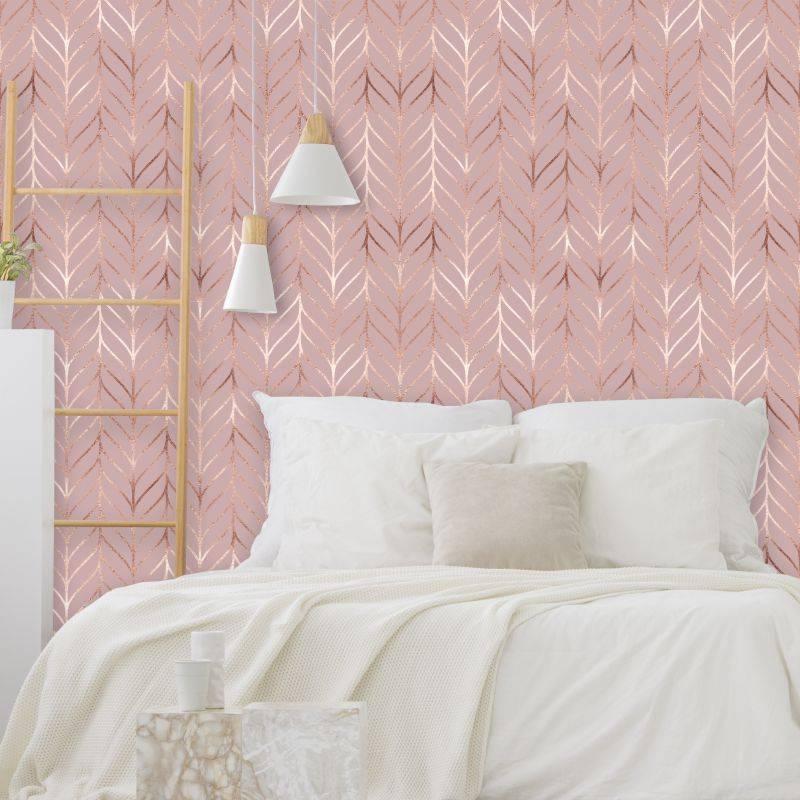 Papel de parede para quarto feminino rosa.