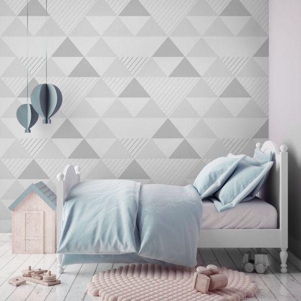 Papel de parede para quarto infantil minimalista.