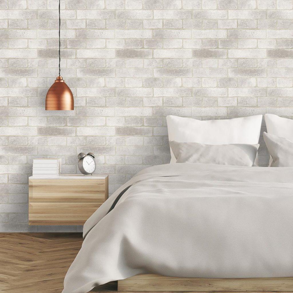 Papel de parede para quarto minimalista.