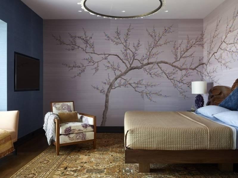 Papel de parede para quarto rústico e moderno.