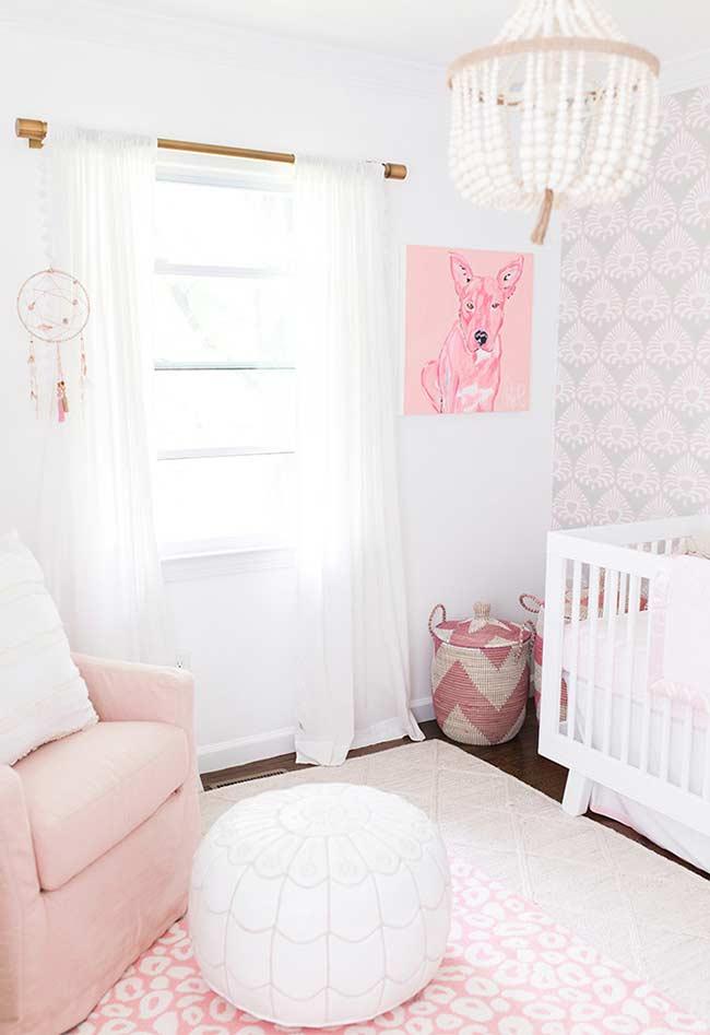 Papel de Parede para Quarto de Bebê lilás.