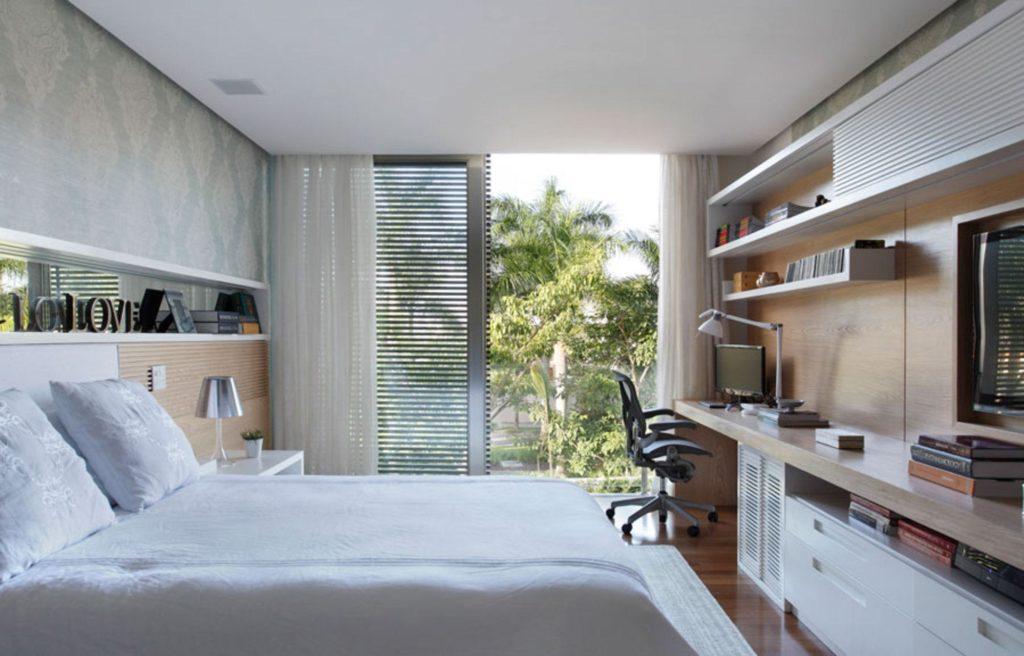 Papel de parede para quarto de casal  simples.