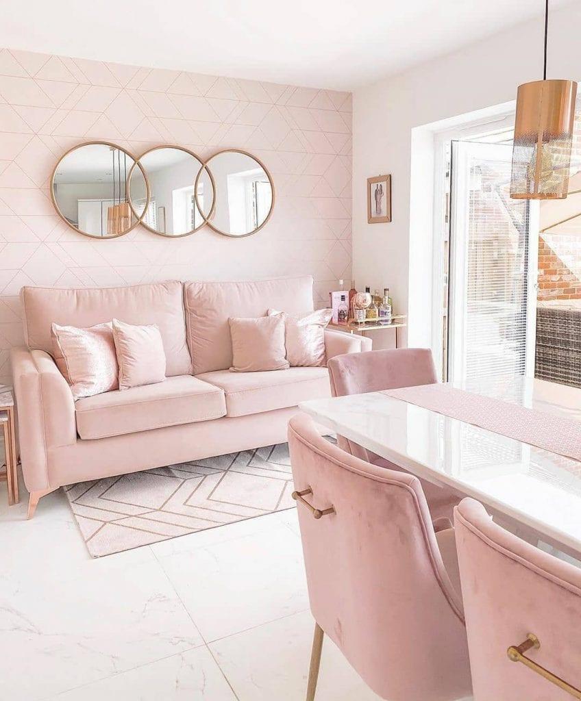 Papel de parede para sala rosa e tumblr.