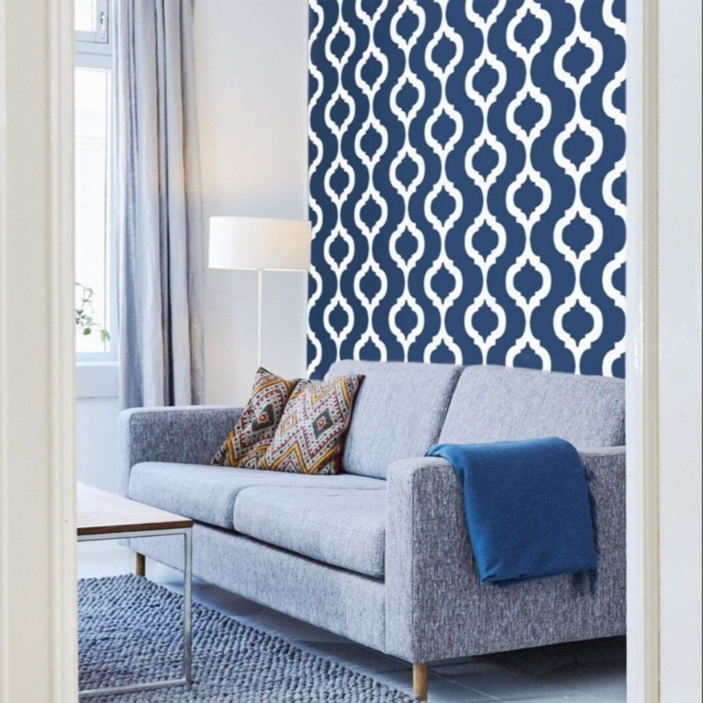 Papel de parede para sala azul.