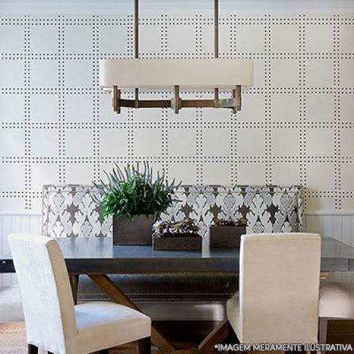 Papel de parede para sala de jantar moderna branca e preta.