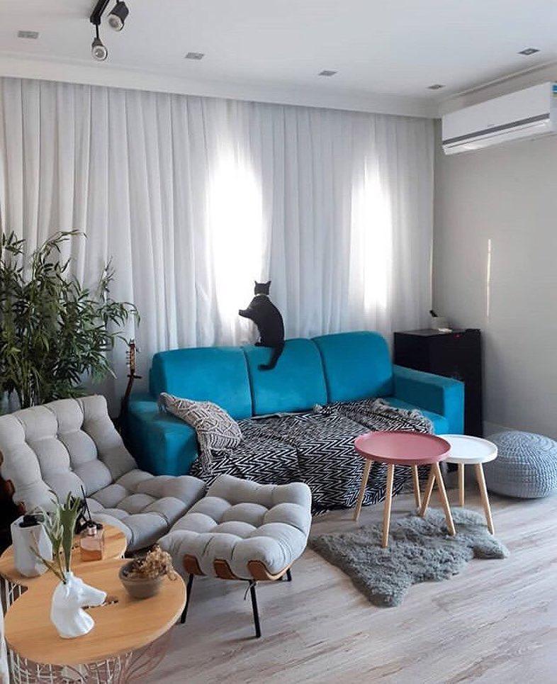 Sala moderna com decoração tumblr.