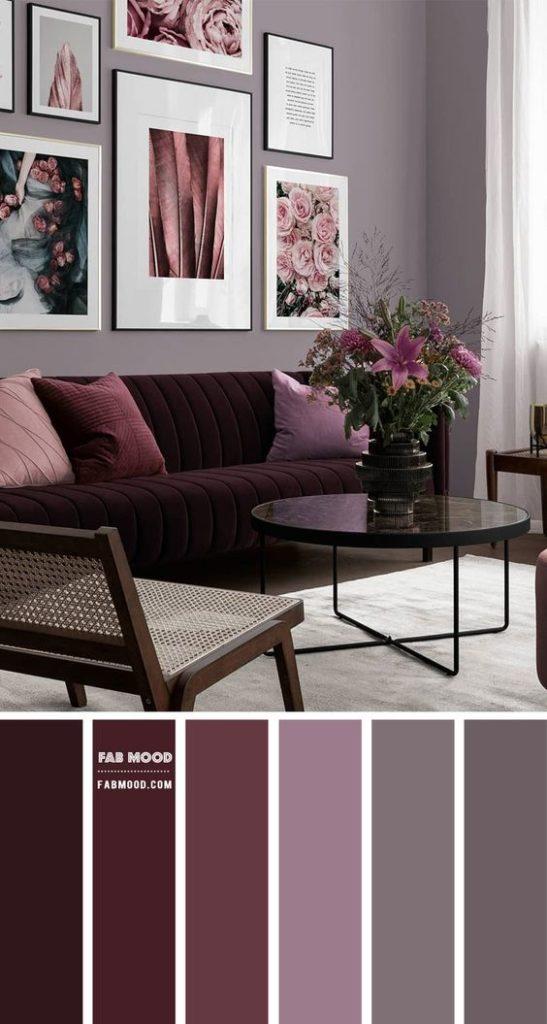 Sala luxuosa roxa.