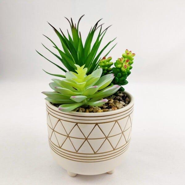Vaso de cachepot decorado.
