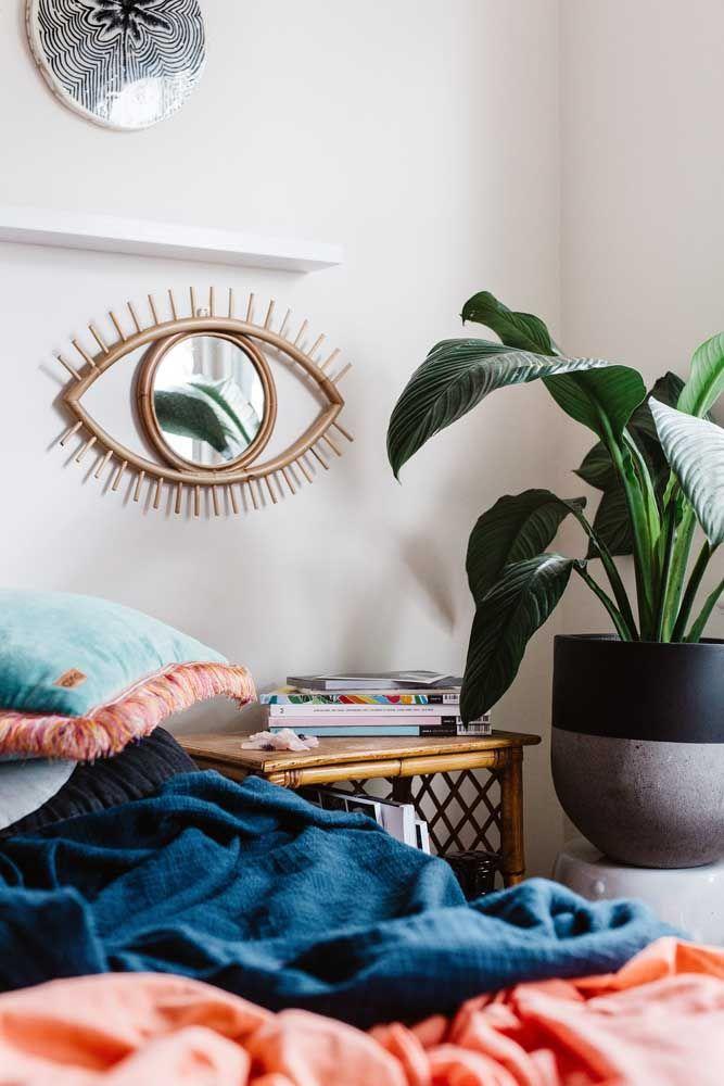 Quarto moderno tumblr com planta.
