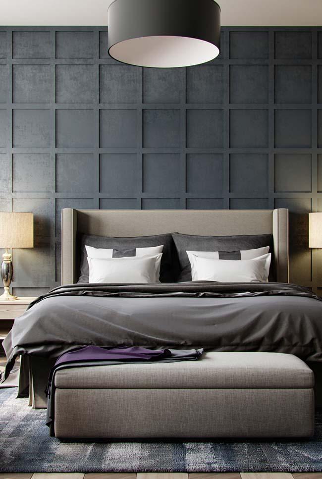 Papel de parede 3D para quarto de casal luxuoso e escuro.