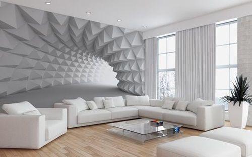 Sala grande e clean com piso de madeira.