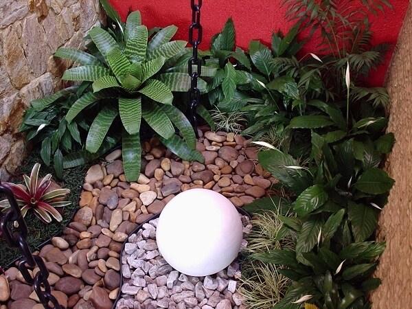 Jardim de inverno pequeno.