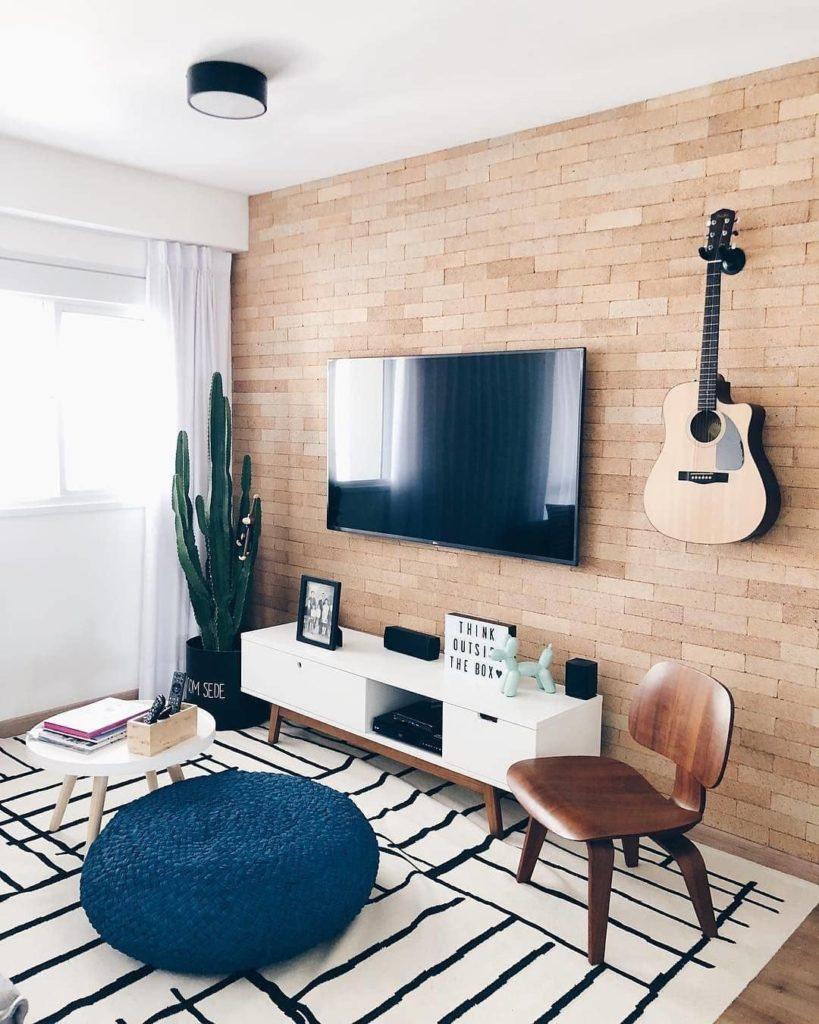 Sala com decoração tumblr.