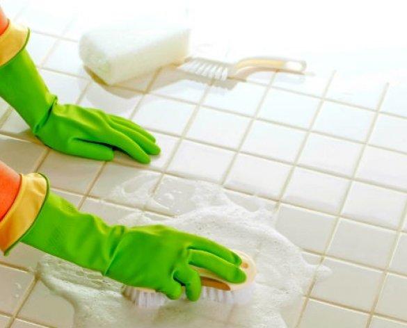 Como limpar azulejo de banheiro com tira limo caseiro.