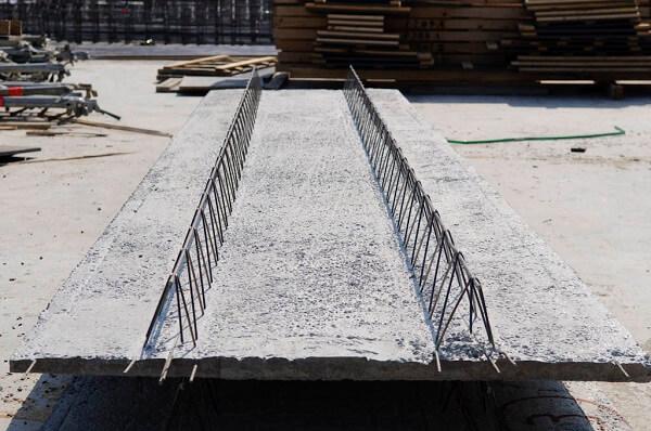 Vigotas de concreto armado.