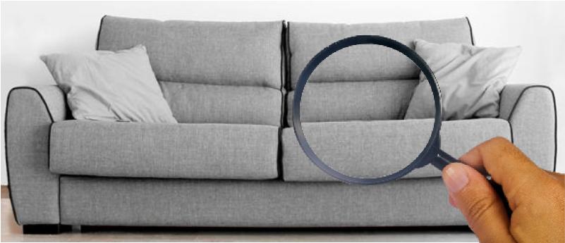 Limpeza de sofá cinza.