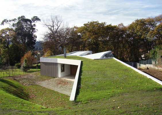 telhado verde rampa com mirante