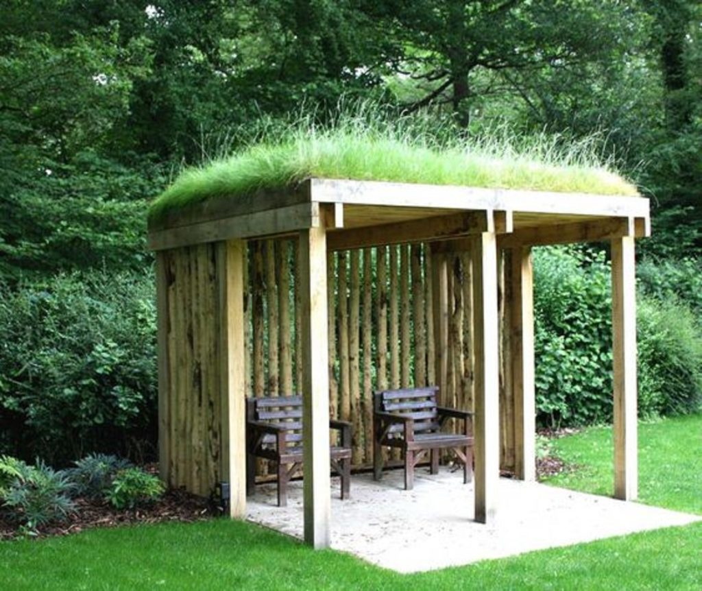 telhado verde gazebo