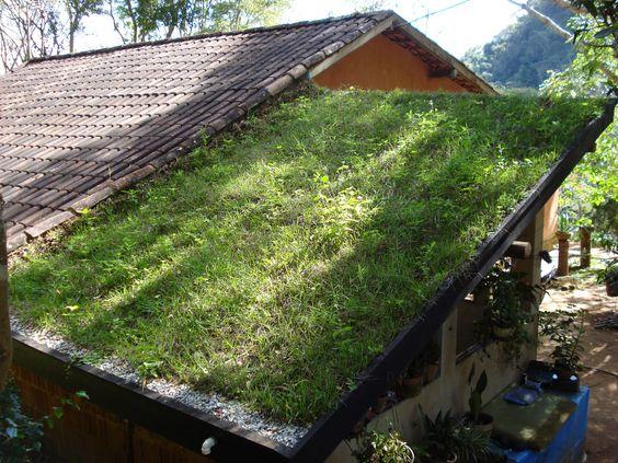 telhado verde na varanda casa rural