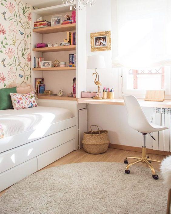 como organizar a casa e quartos com prateleiras fixadas na parede