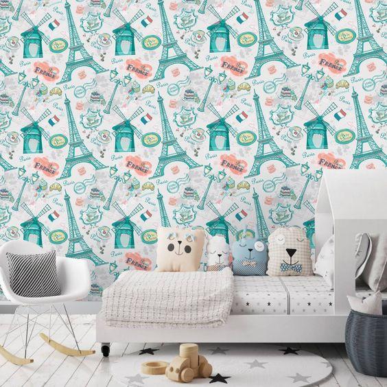 papel de parede azul turquesa