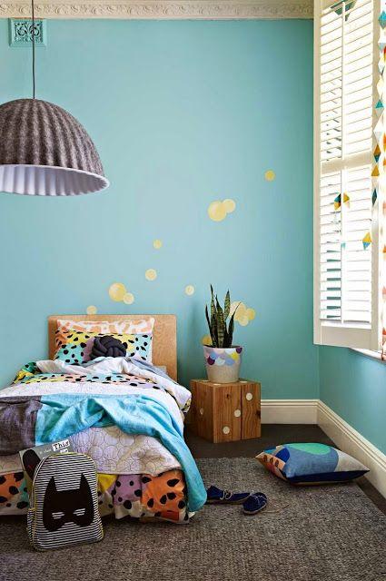 parede azul Tiffany quarto infantil
