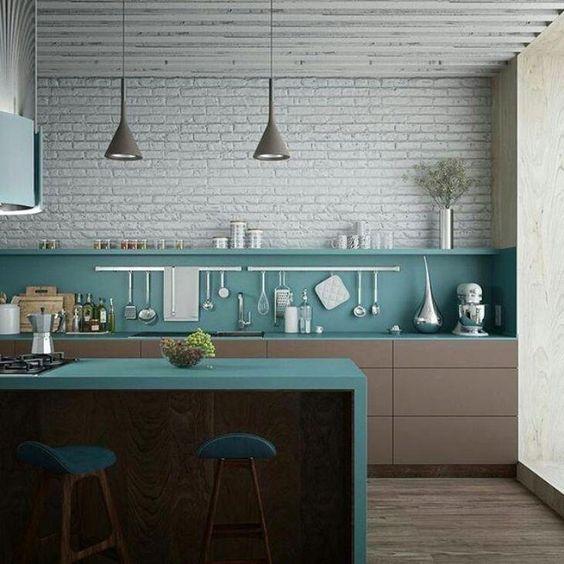 meia parede em cozinha
