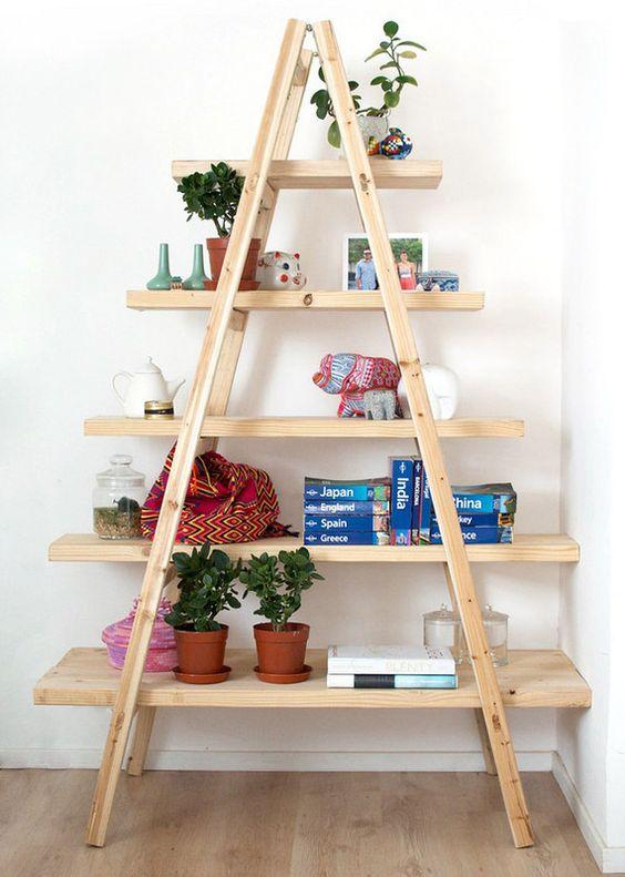estante escada para organizar sala