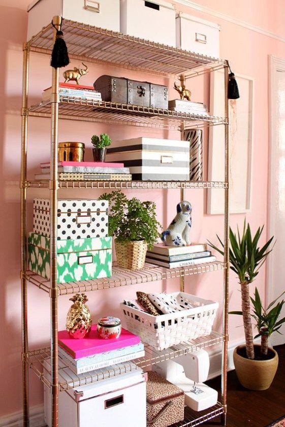 caixas e potes decorativos organizadores para sala