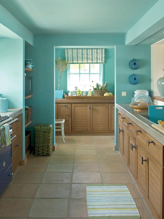 paredes e teto de cozinha
