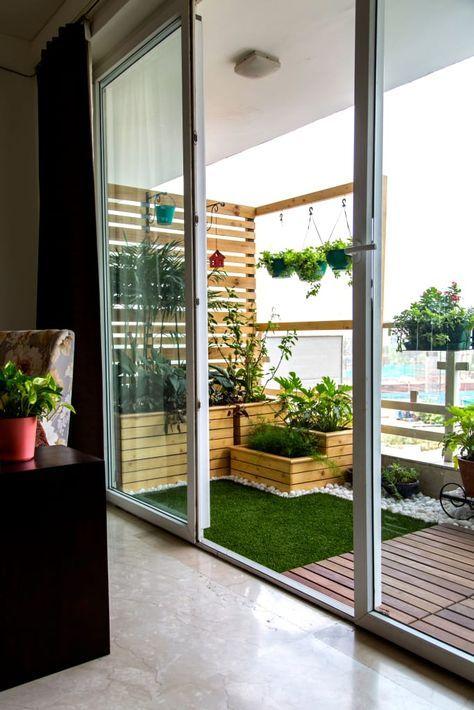 como organizar a casa em área externa com jardim e gramado