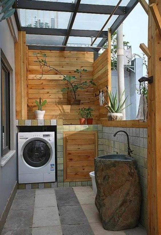 como organizar a casa em área externa e lavanderia organizadas