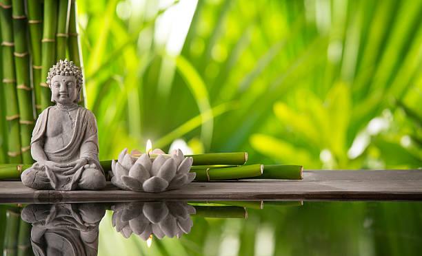 buda e flor de lotus simbolizando espiritualidade