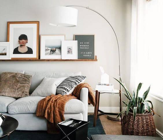 planta em cesto sala de estar