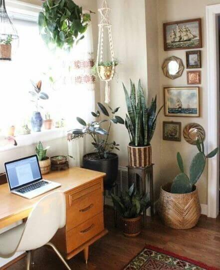home office jardim interno