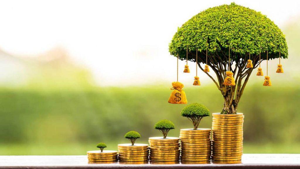 moedas simbolizam a prosperidade