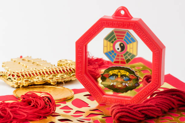 baguá feng shui na cor vermelha