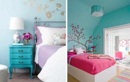 paredes e móvel detalhes azul Tiffany