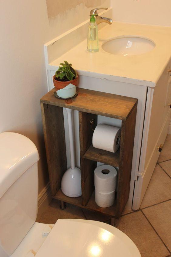 suporte para higienização diária do banheiro