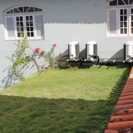 casa refrigeração e ecotelhado gramado