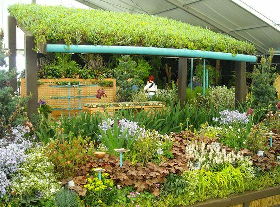 floricultura com ecotelhado jardim
