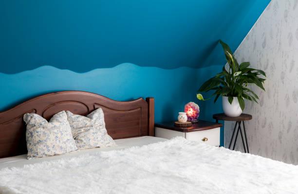 paredes em tons de azul para equilibrar a energia do ambiente